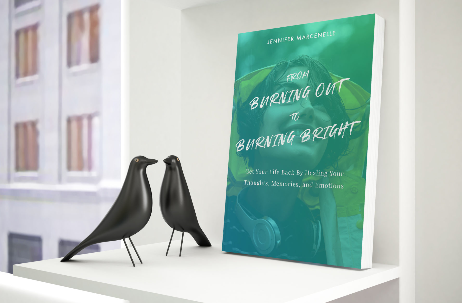 burn bright today book cover mockup